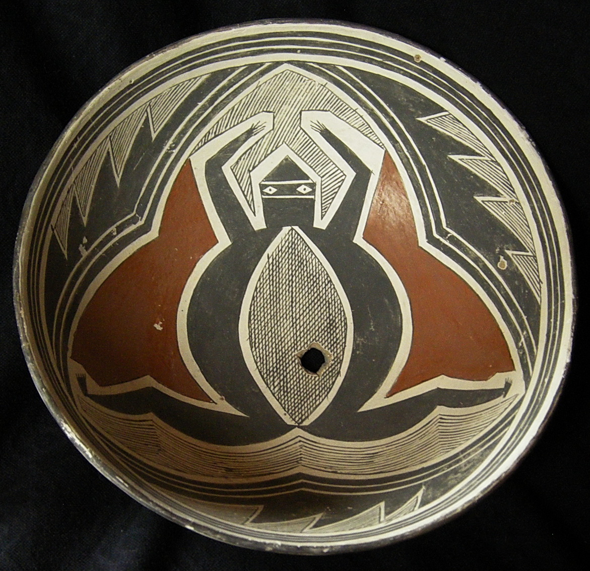 #688 Mimbres Polychrome bowl--Mcvey collection