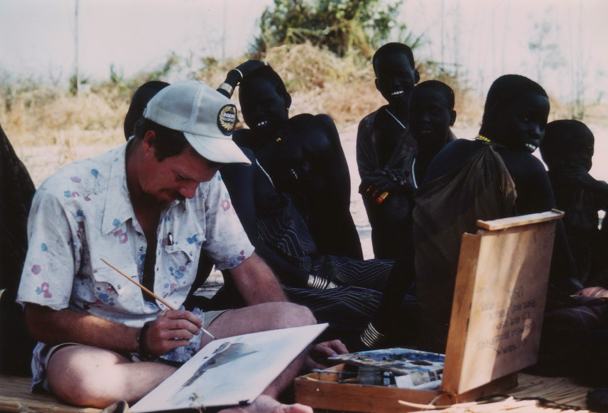 Painting in Sudan Bush 1979