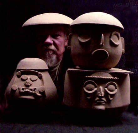 Self Portrait with Maya God Pots